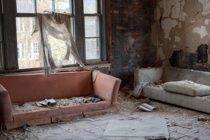 moldy abandoned room